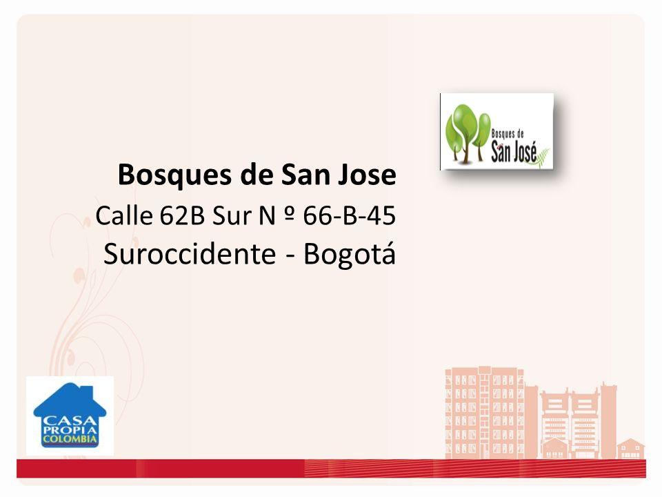 Bosques de San Jose Calle 62B Sur N º 66-B-45 Suroccidente - Bogotá