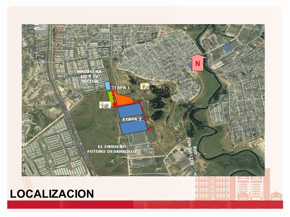ETAPA 1 RIO TUNJUELITO N MADELENA III Y IV SECTOR EL ENSUEÑO FUTURO DESARROLLO ETAPA 2 LOCALIZACION