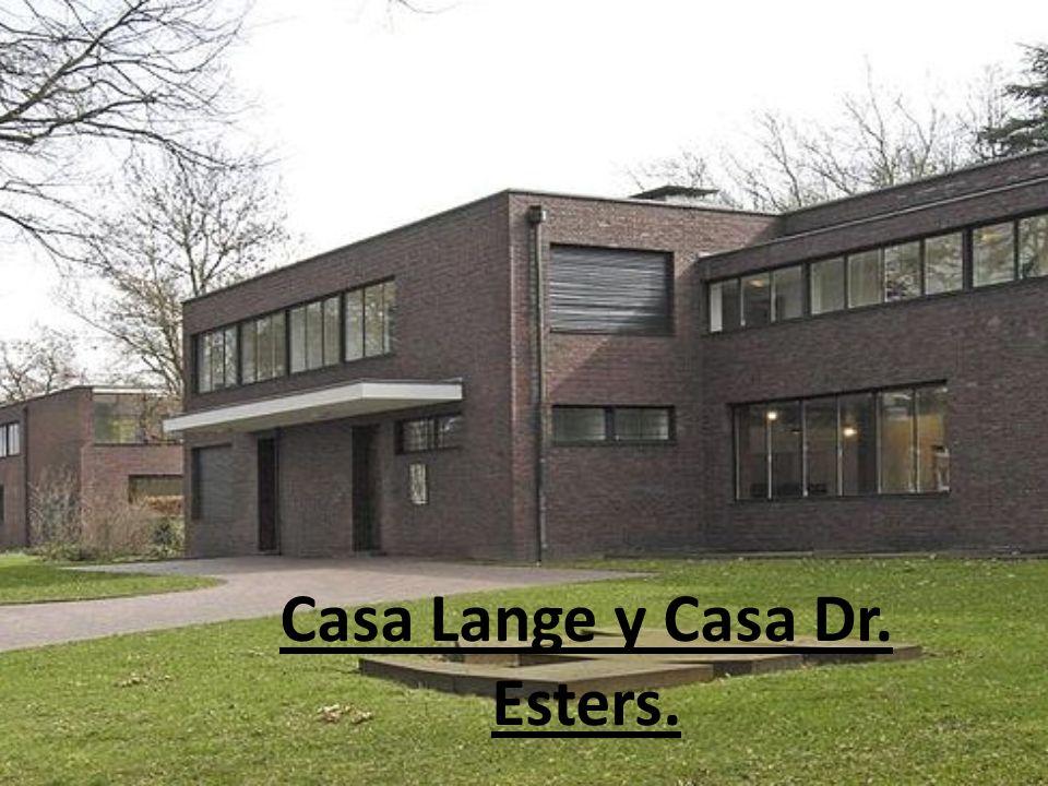Casa Lange y Casa Dr. Esters.