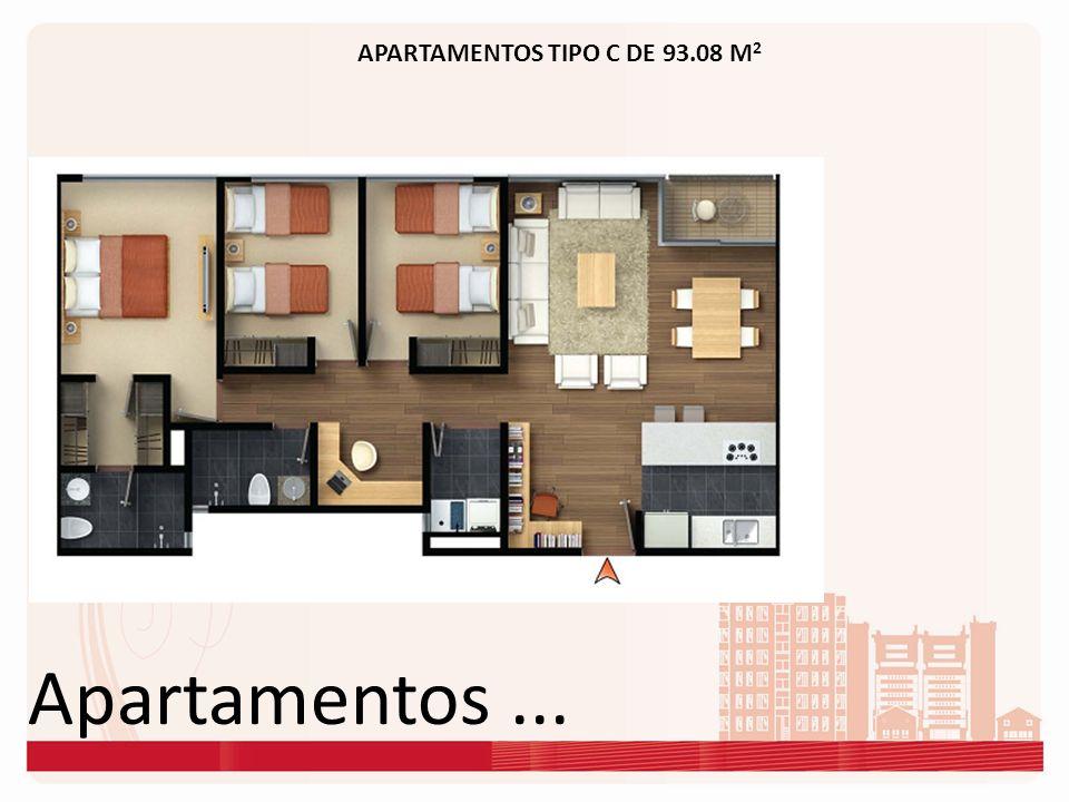 Apartamentos... APARTAMENTOS TIPO C DE 93.08 M 2