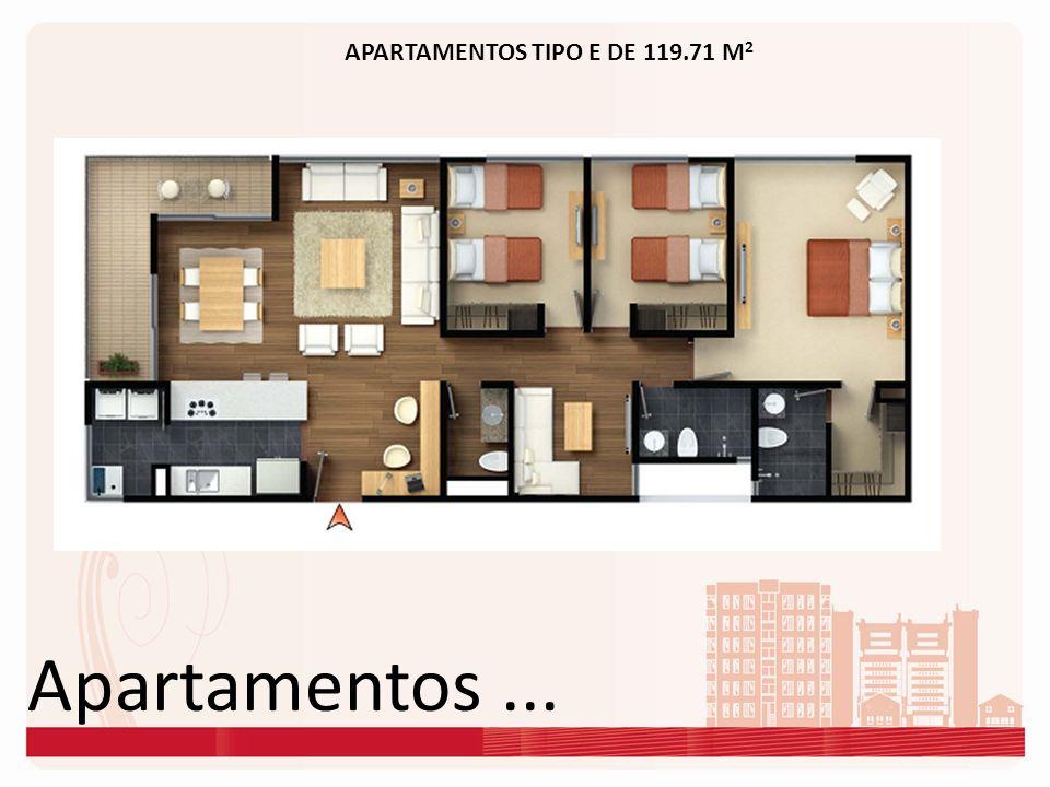 Apartamentos... APARTAMENTOS TIPO E DE 119.71 M 2