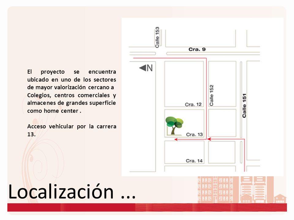 Localización... El proyecto se encuentra ubicado en uno de los sectores de mayor valorización cercano a Colegios, centros comerciales y almacenes de g