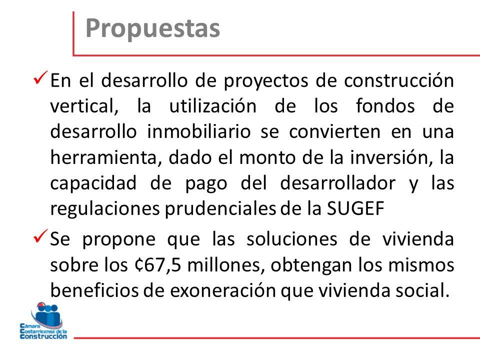Propuestas En el desarrollo de proyectos de construcción vertical, la utilización de los fondos de desarrollo inmobiliario se convierten en una herram