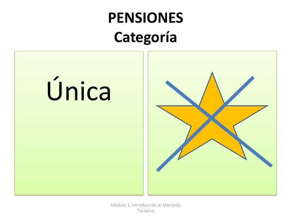 PENSIONES Categoría Única Módulo 1. Introducción al Mercado Turístico