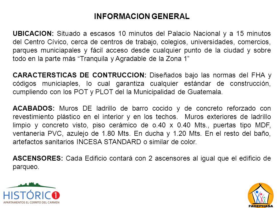 INFORMACION GENERAL INSTALACIONES ELECTRICAS E HIDAULICAS: Eléctrica 110/220V.