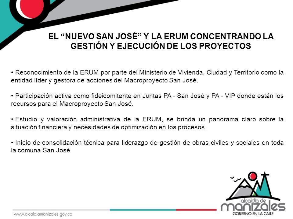 Reconocimiento de la ERUM por parte del Ministerio de Vivienda, Ciudad y Territorio como la entidad líder y gestora de acciones del Macroproyecto San José.