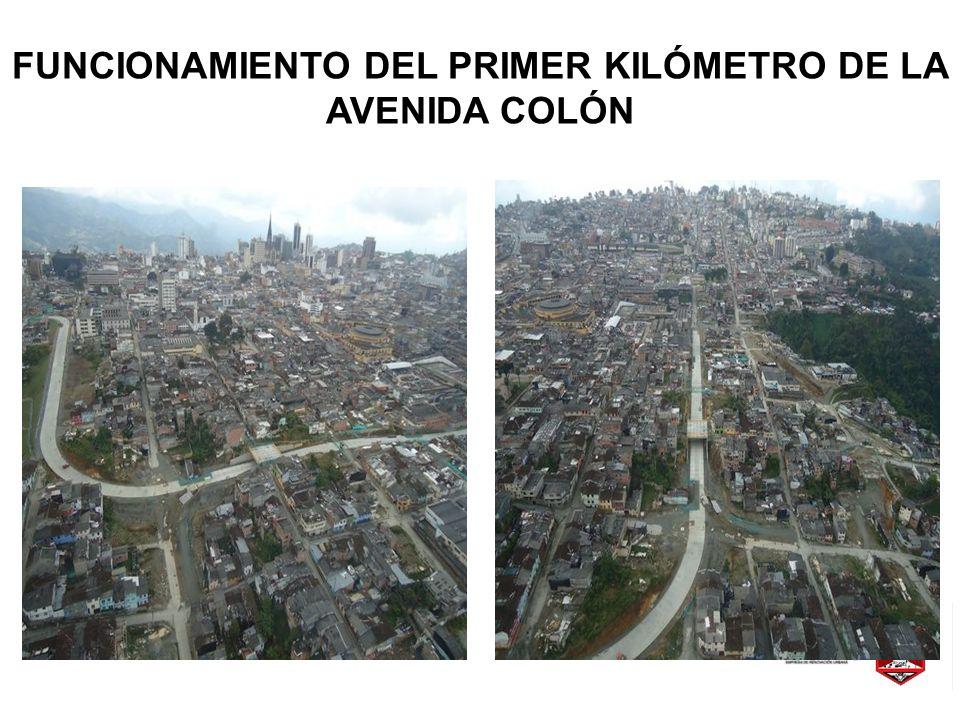 FUNCIONAMIENTO DEL PRIMER KILÓMETRO DE LA AVENIDA COLÓN
