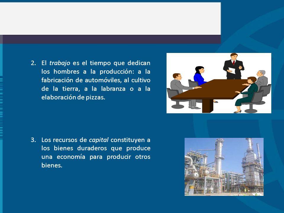 2.El trabajo es el tiempo que dedican los hombres a la producción: a la fabricación de automóviles, al cultivo de la tierra, a la labranza o a la elab
