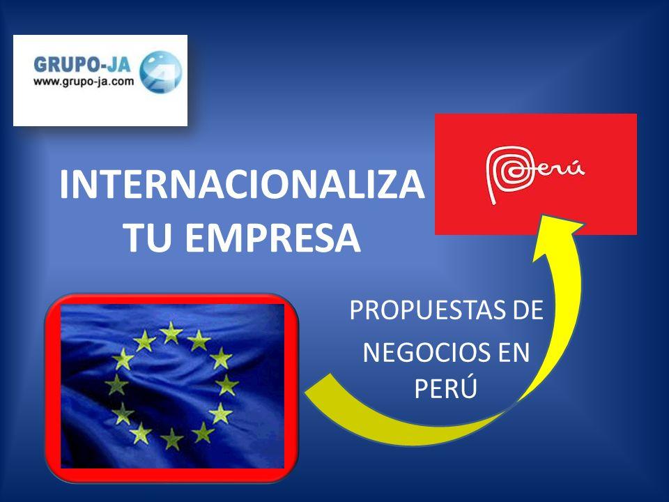 Somos una empresa de consultoría de ámbito internacional, centrada en las relaciones comerciales entre Perú y España.