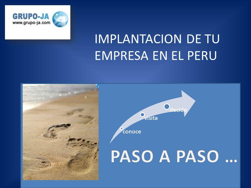 IMPLANTACION DE TU EMPRESA EN EL PERU conoce visita decide