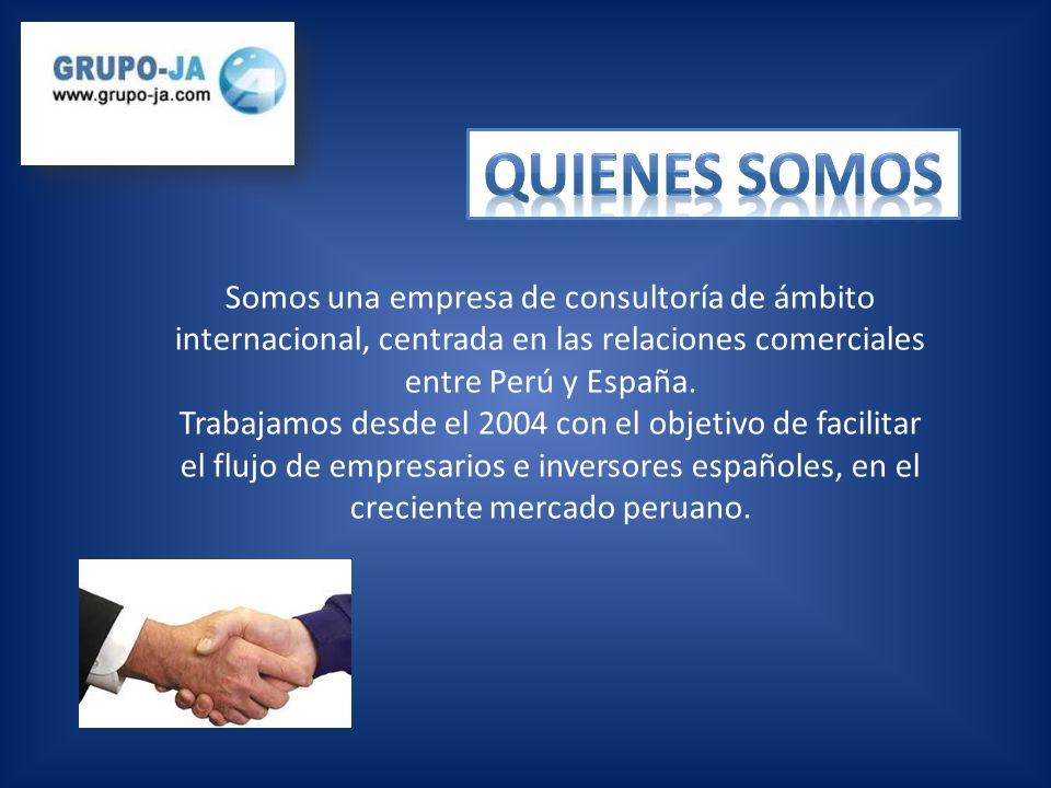 Somos una empresa líder en el servicio integral de asistencia y asesoramiento en la exploración de las nuevas oportunidades en el mercado peruano SERVICIOS PERSONALIZADOS