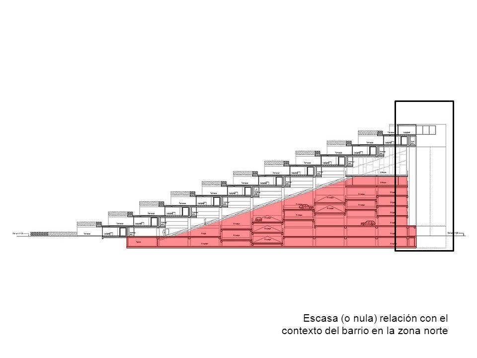 Escasa (o nula) relación con el contexto del barrio en la zona norte