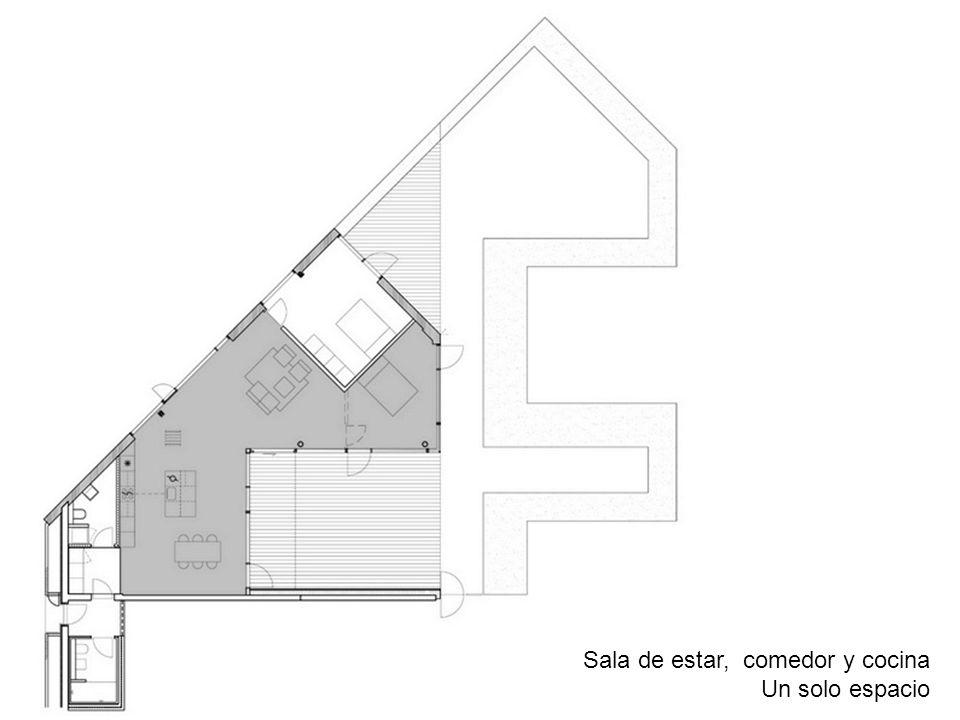 Sala de estar, comedor y cocina Un solo espacio