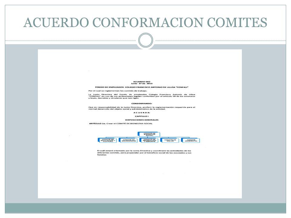 ACUERDO CONFORMACION COMITES