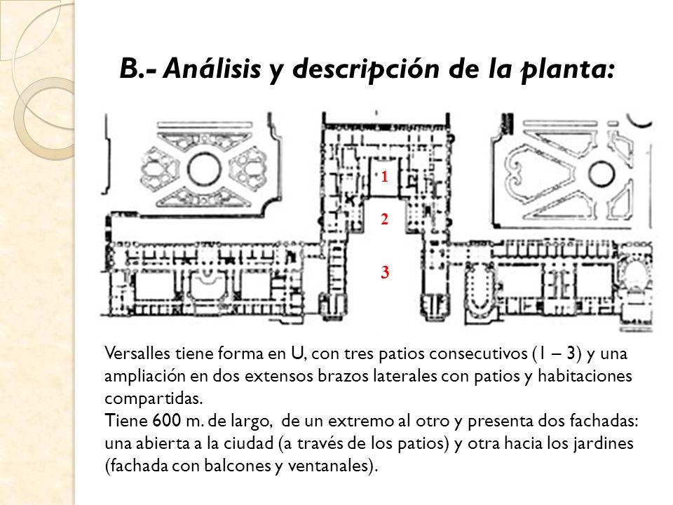C.- Análisis y descripción del alzado: El conjunto principal es bastante clasicista, sobrio y majestuoso.