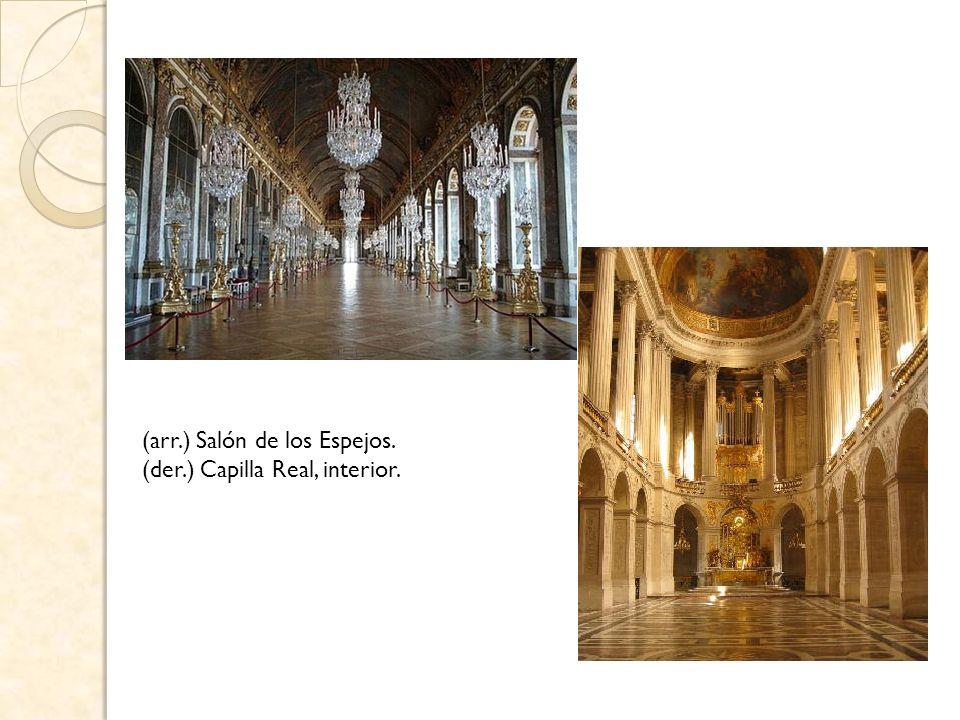 Cámara del Rey: El espacio esencial en la jornada del monarca, ocupó desde 1701 el centro del palacio y su rica decoración se compone de carpinterías doradas, pesados brocatos bordados en oro y obras de los más importantes pintores de la época encastradas en el revestimiento de madera.
