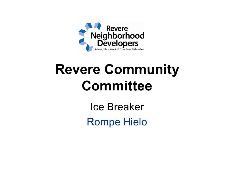 Revere Community Committee Ice Breaker Rompe Hielo