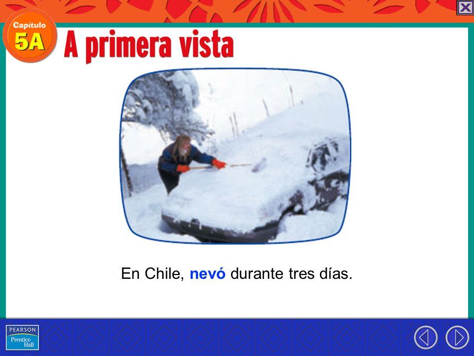 En Chile, nevó durante tres días.