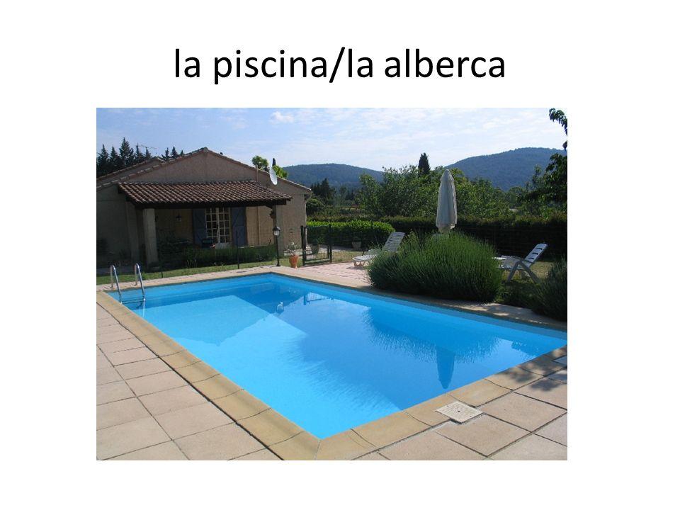 la piscina/la alberca