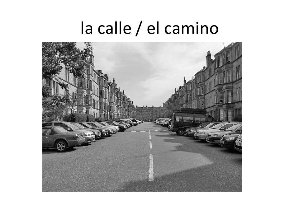 la calle / el camino