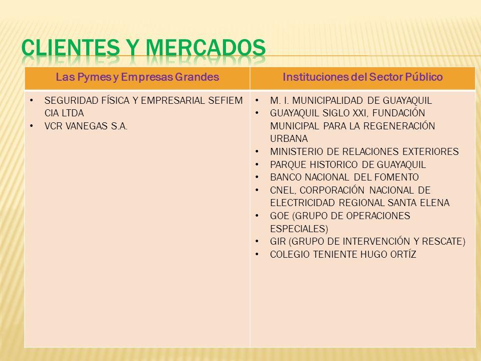 Las Pymes y Empresas GrandesInstituciones del Sector Público SEGURIDAD FÍSICA Y EMPRESARIAL SEFIEM CIA LTDA VCR VANEGAS S.A.