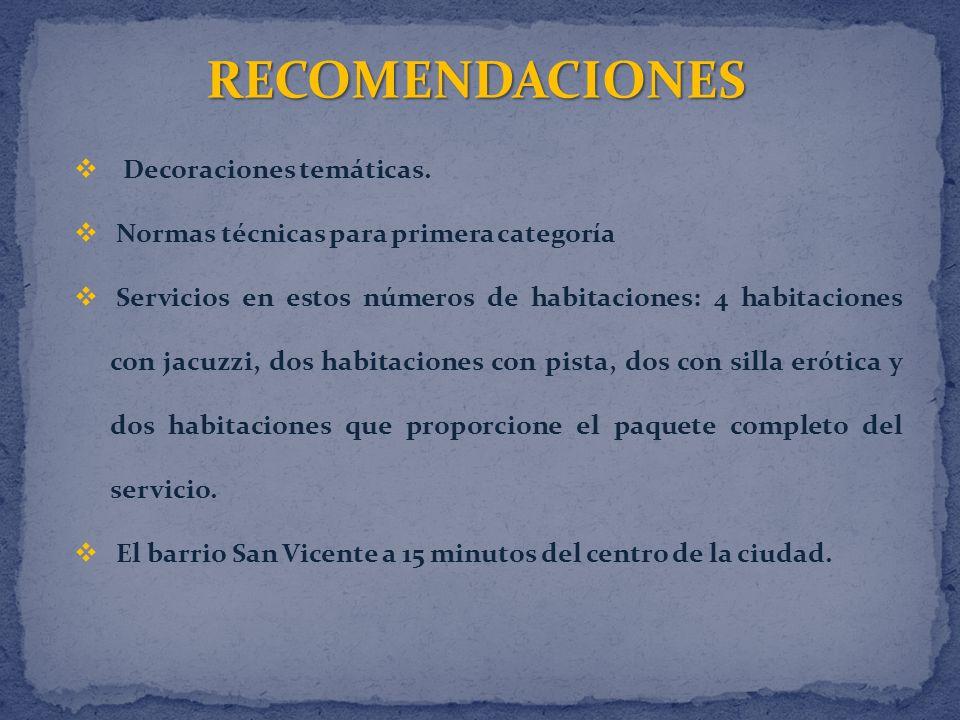 RECOMENDACIONES Decoraciones temáticas.