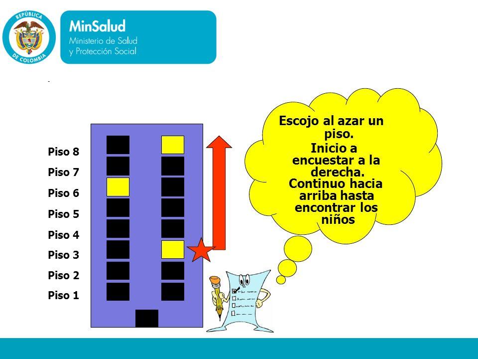 Ministerio de la Protección Social República de Colombia - Piso 8 Piso 7 Piso 6 Piso 5 Piso 4 Piso 3 Piso 2 Piso 1 Escojo al azar un piso. Inicio a en