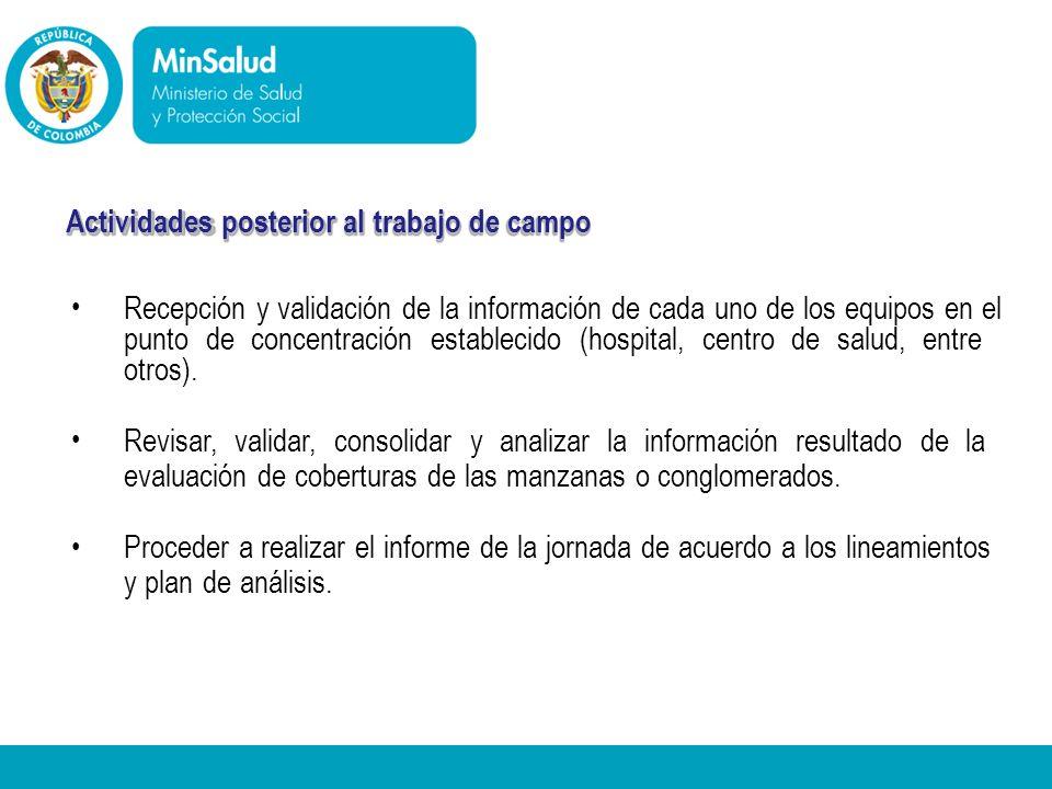 Ministerio de la Protección Social República de Colombia - Recepción y validación de la información de cada uno de los equipos en el punto de concentr