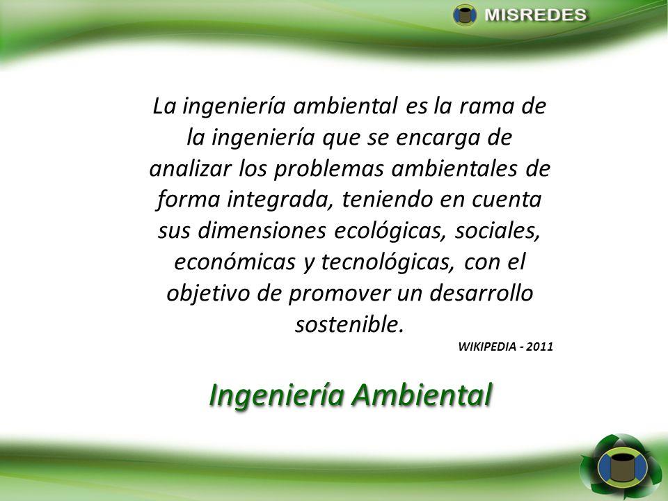 Peavy et al. (1985) citado por Kiely (1999) define la ingeniería ambiental como la rama de la ingeniería que se ocupa de la protección del ambiente de