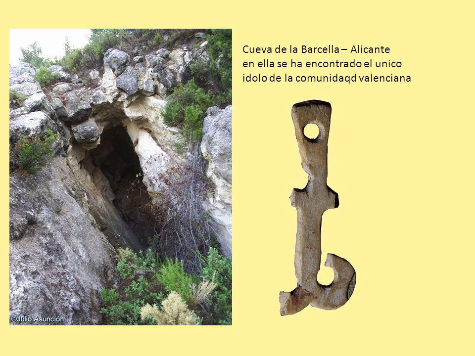 Cueva de la Barcella – Alicante en ella se ha encontrado el unico idolo de la comunidaqd valenciana