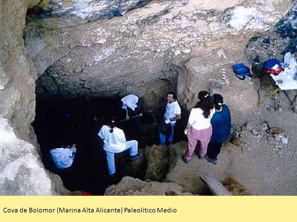 Cova de Bolomor (Marina Alta Alicante) Paleolitico Medio