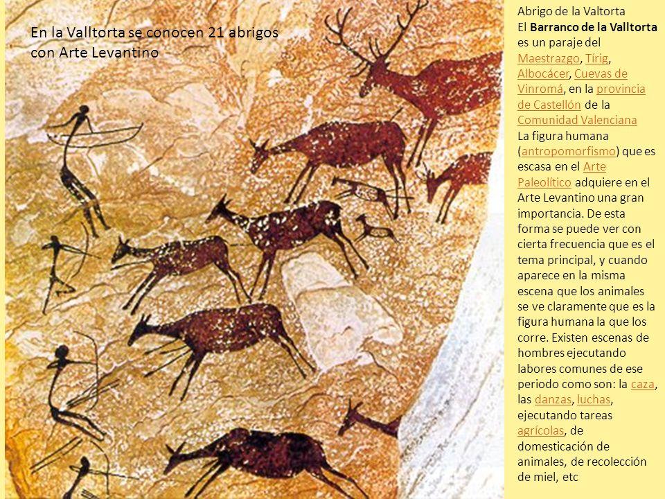 Abrigo de la Valtorta El Barranco de la Valltorta es un paraje del Maestrazgo, Tírig, Albocácer, Cuevas de Vinromá, en la provincia de Castellón de la