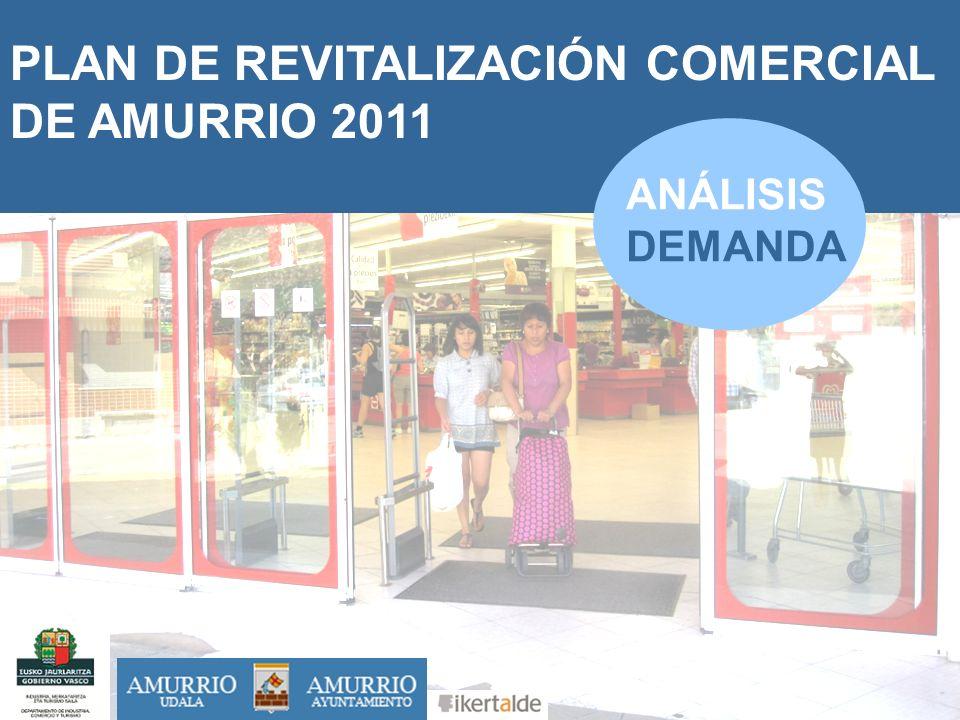 1 PLAN DE REVITALIZACIÓN COMERCIAL DE AMURRIO 2011 SEPTIEMBRE 2011 ANÁLISIS DEMANDA
