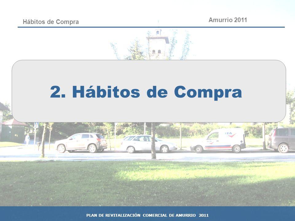 22 Hábitos de Compra 2. Hábitos de Compra Amurrio 2011 PLAN DE REVITALIZACIÓN COMERCIAL DE AMURRIO 2011