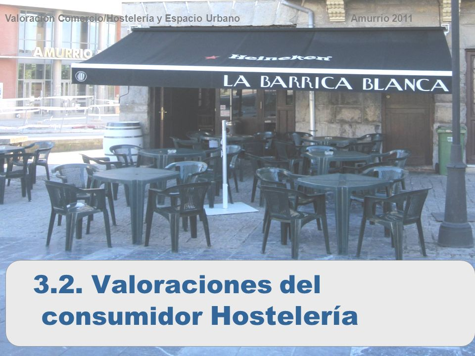 34 Valoración Comercio/Hostelería y Espacio Urbano 3.2. Valoraciones del consumidor Hostelería Amurrio 2011