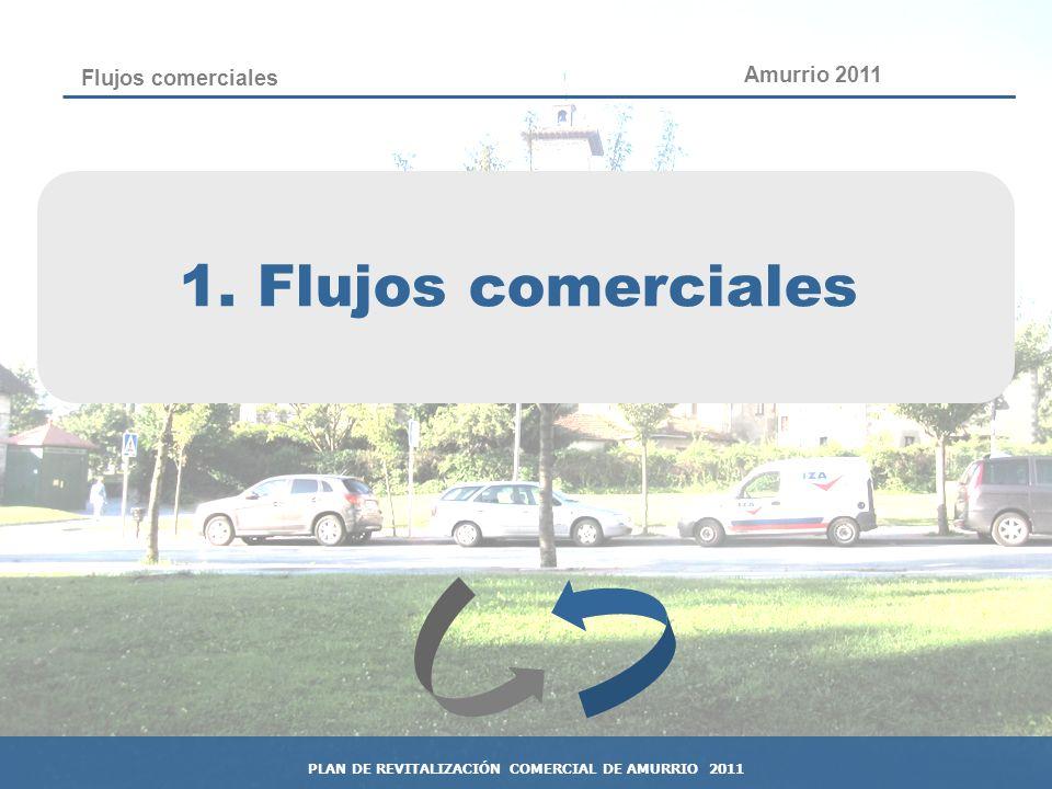 7 Flujos comerciales 1. Flujos comerciales Amurrio 2011 PLAN DE REVITALIZACIÓN COMERCIAL DE AMURRIO 2011