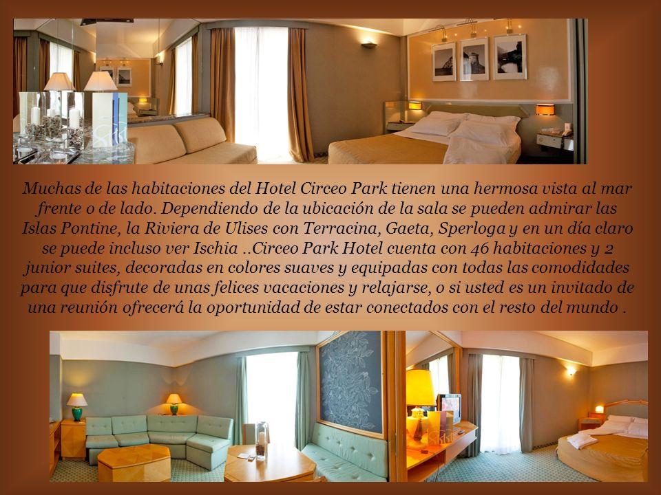 Muchas de las habitaciones del Hotel Circeo Park tienen una hermosa vista al mar frente o de lado.