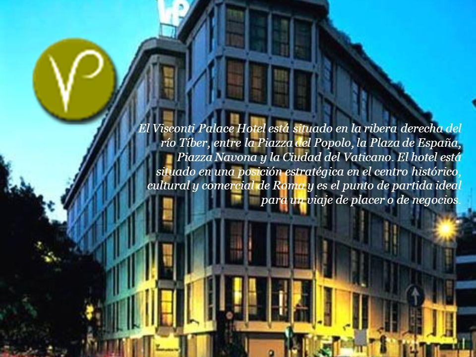 El Visconti Palace Hotel está situado en la ribera derecha del río Tíber, entre la Piazza del Popolo, la Plaza de España, Piazza Navona y la Ciudad del Vaticano.