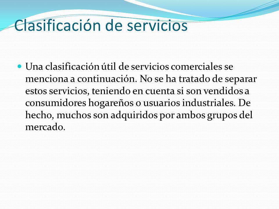 Clasificación de servicios(…) 1.