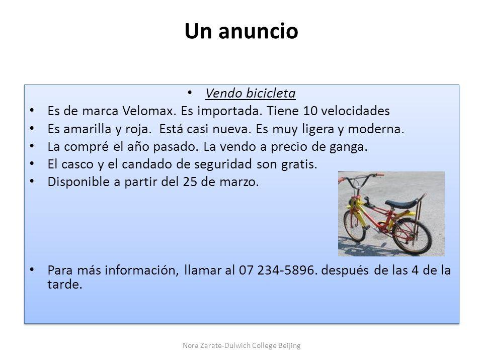Un anuncio Vendo bicicleta Es de marca Velomax.Es importada.