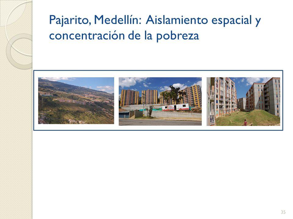 Pajarito, Medellín: Aislamiento espacial y concentración de la pobreza 35