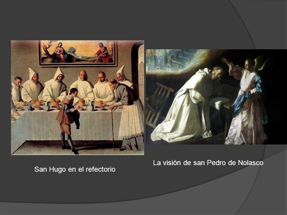 San Hugo en el refectorio La visión de san Pedro de Nolasco