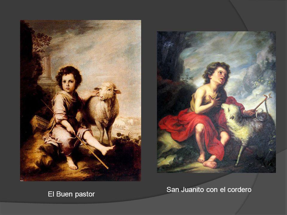 El Buen pastor San Juanito con el cordero