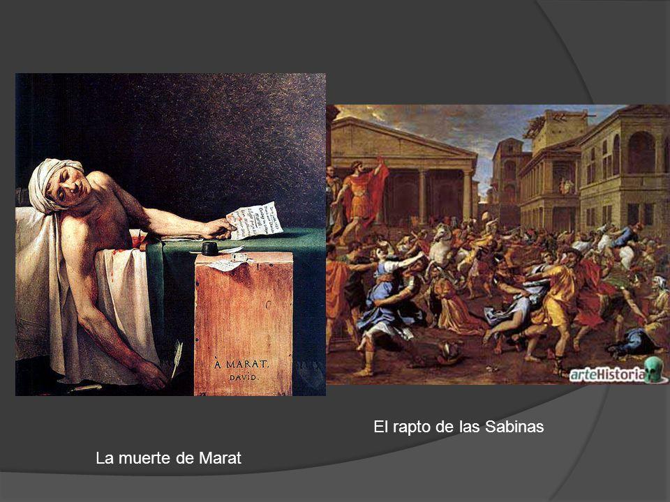 La muerte de Marat El rapto de las Sabinas