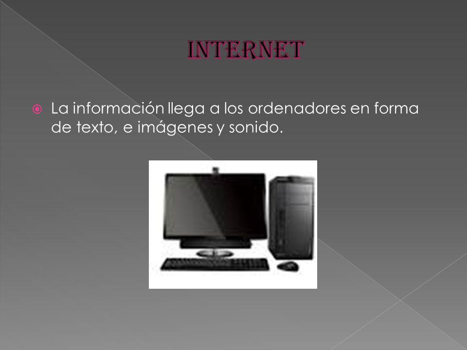 La información llega a los ordenadores en forma de texto, e imágenes y sonido.