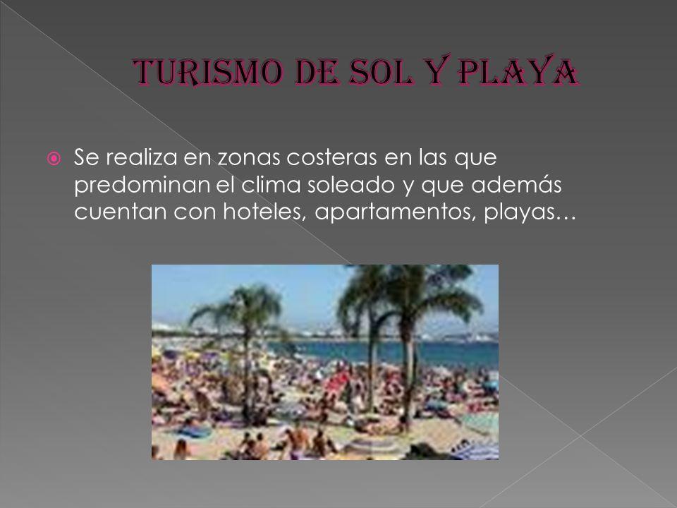Se realiza en zonas costeras en las que predominan el clima soleado y que además cuentan con hoteles, apartamentos, playas…