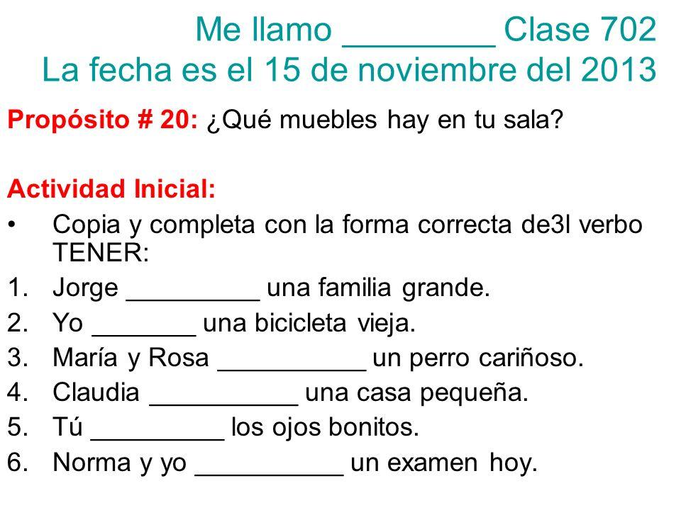 Vocabulario Nuevo En la sala….