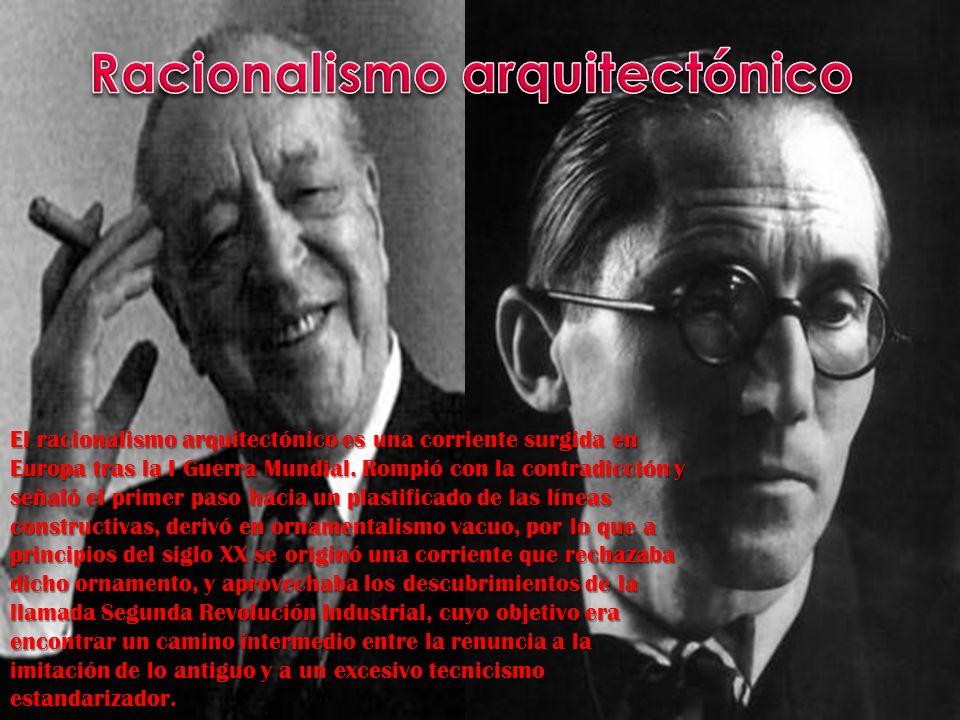 El racionalismo arquitectónico es una corriente surgida en Europa tras la I Guerra Mundial. Rompió con la contradicción y señaló el primer paso hacia