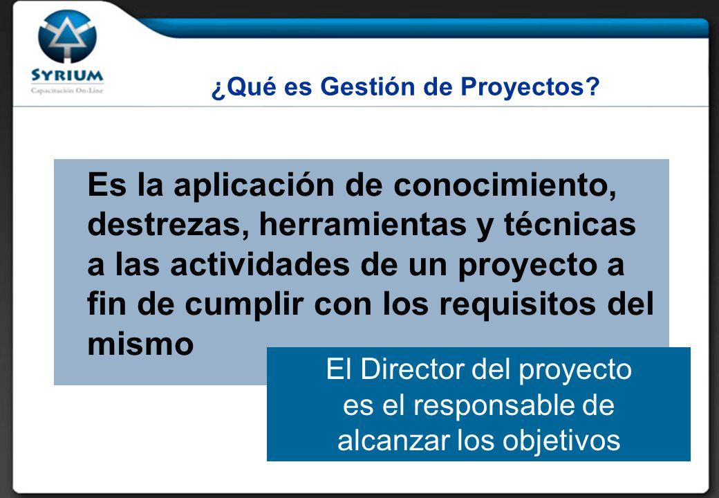 ¿Qué es Gestión de Proyectos.