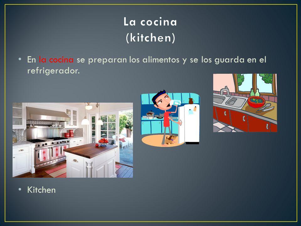 En la cocina se preparan los alimentos y se los guarda en el refrigerador. Kitchen